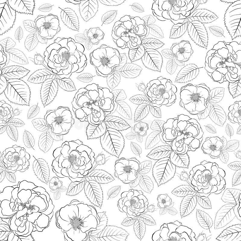 Naadloos patroon van bloemen stock illustratie
