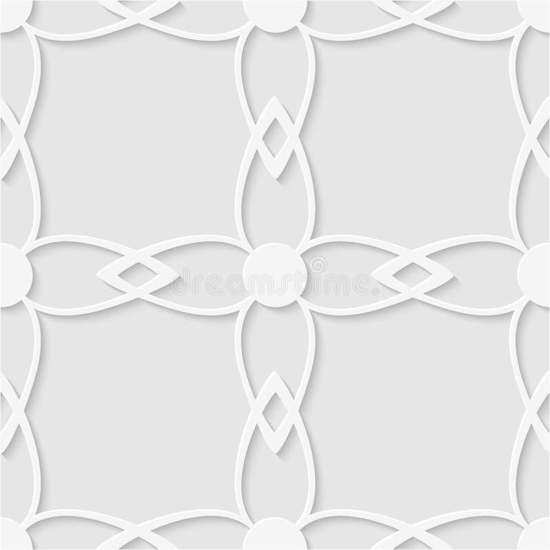 Naadloos patroon van bloemen Geometrisch Behang Ongebruikelijke lattic stock afbeelding