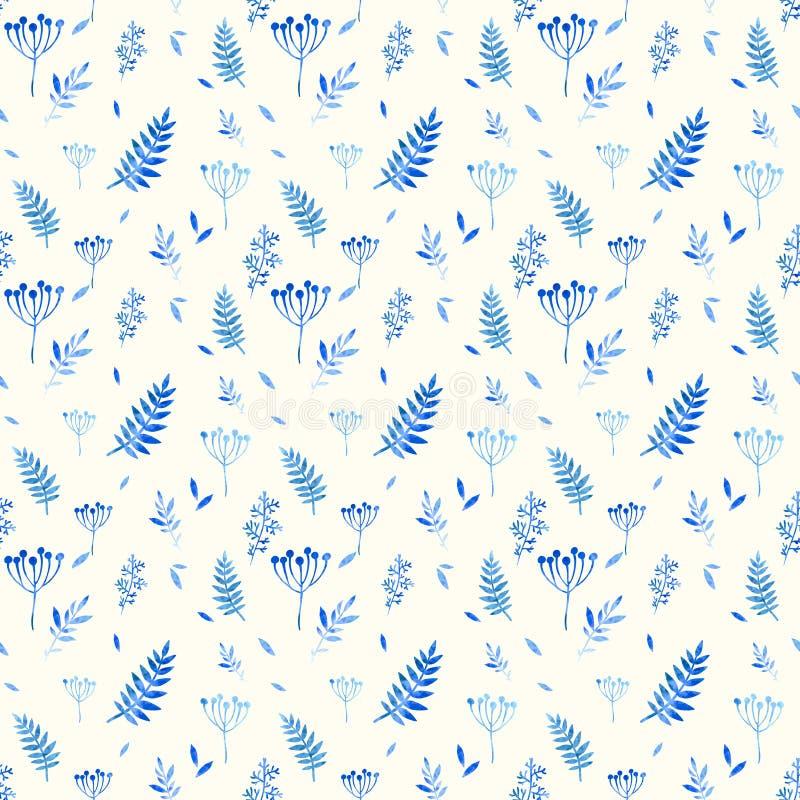 Naadloos patroon van bloemenelementen vector illustratie