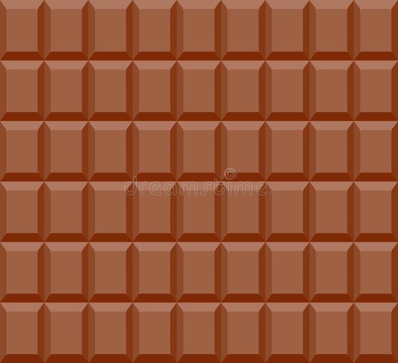 Naadloos patroon van chocoladereepachtergrond royalty-vrije illustratie