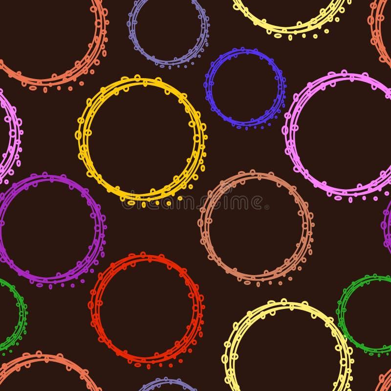 Naadloos patroon van cirkels stock foto's