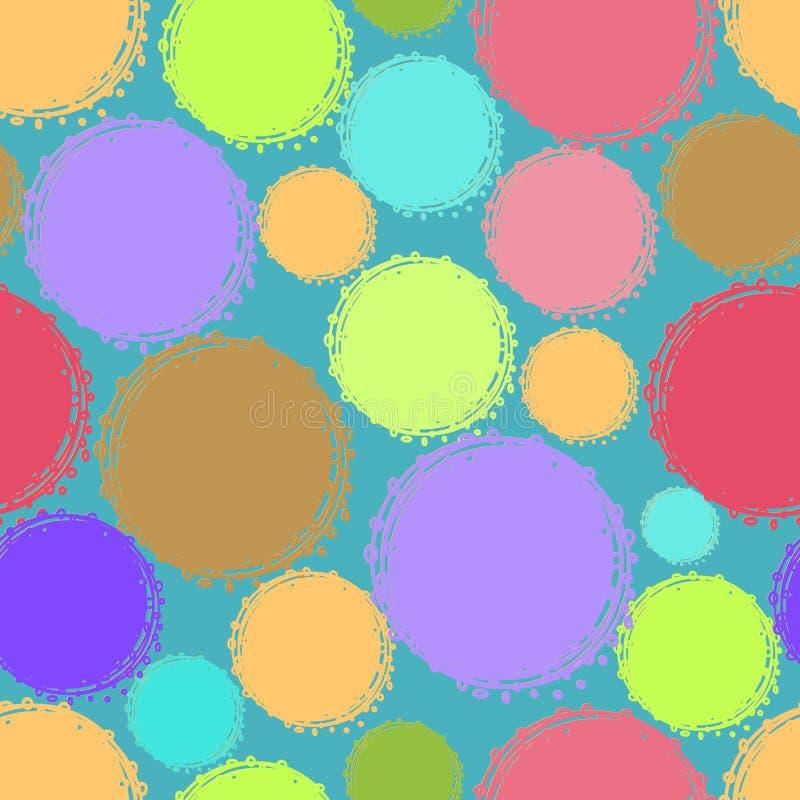 Naadloos patroon van cirkels zarnotsvetnyh stock foto