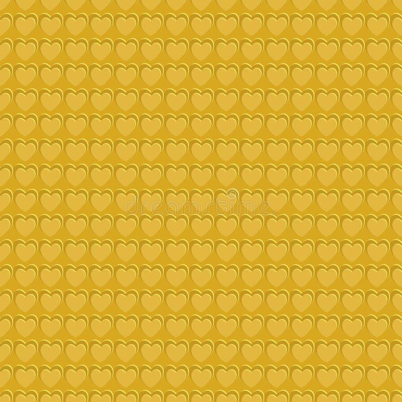 Naadloos patroon van 3d chocoladebruine achtergrond van de harttextuur Valentijnskaartendag, liefde, huwelijksconcepten Vector il vector illustratie
