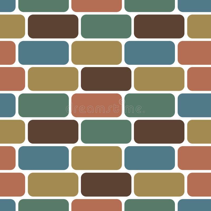 Naadloos patroon van de bakstenen muur vector illustratie