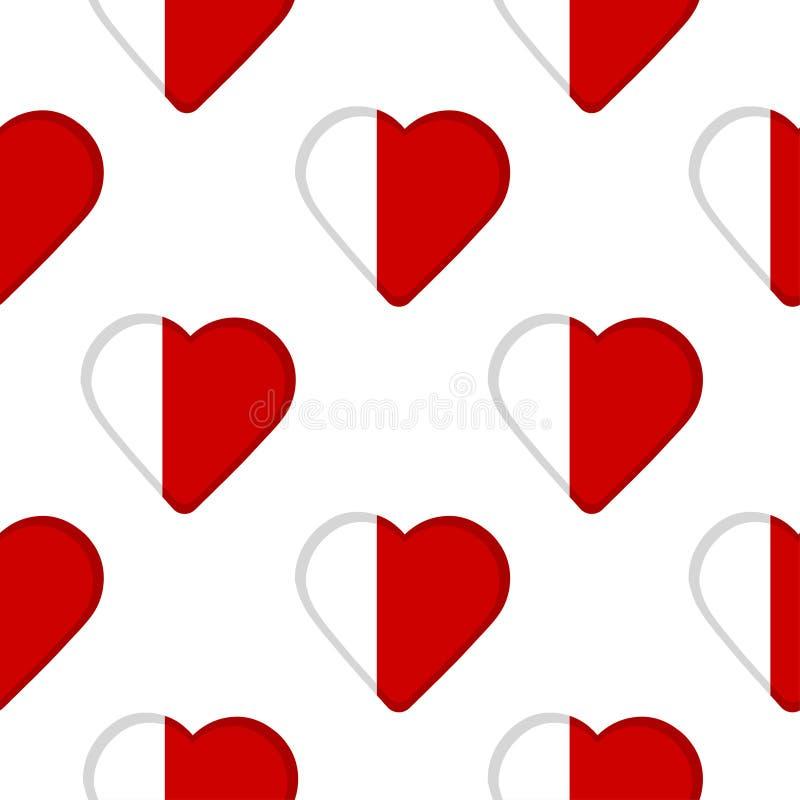 Naadloos patroon van de harten met de vlag van Doubai en Ajma stock illustratie