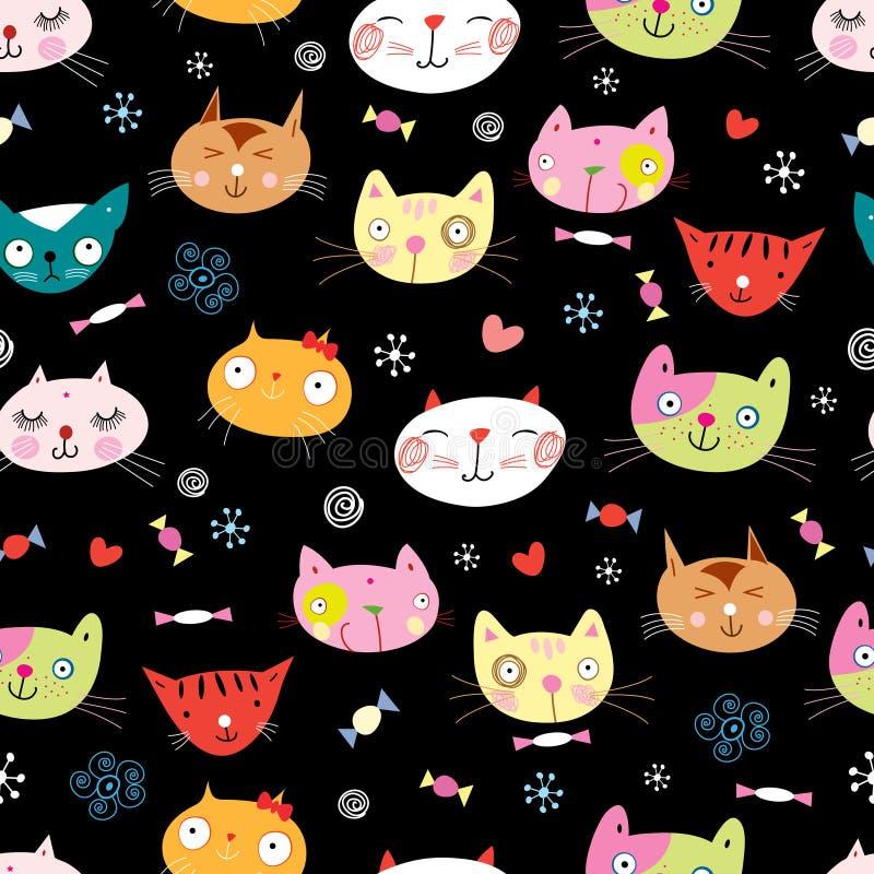 Naadloos patroon van de katten royalty-vrije illustratie