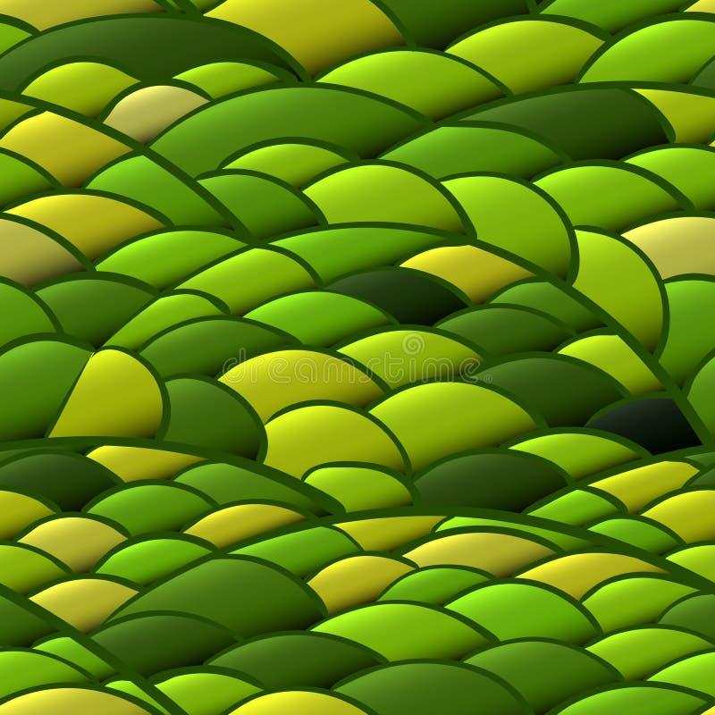 Naadloos patroon van de lenteheuvels met een jong gras royalty-vrije illustratie