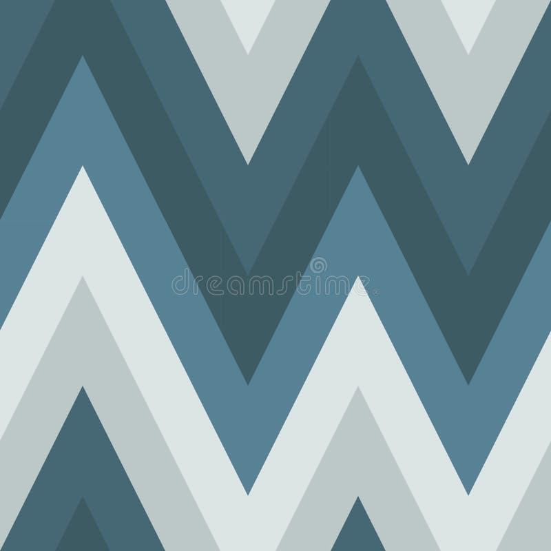 Naadloos patroon van diagonalen in koude kleuren stock illustratie