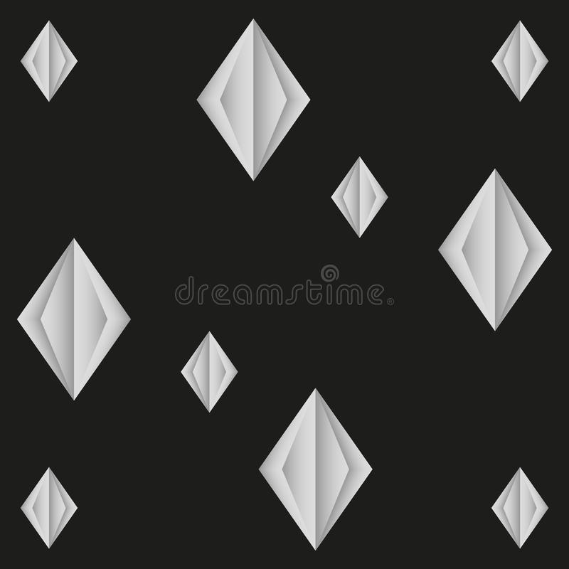 Naadloos patroon van document diamanten abstracte achtergrond stock illustratie