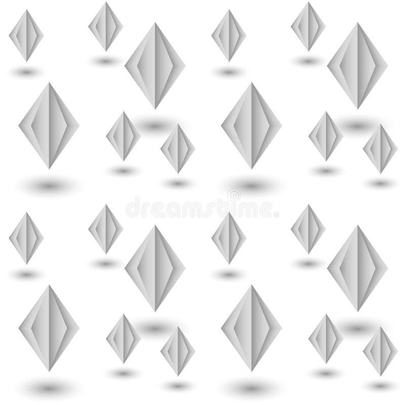 Naadloos patroon van document diamanten abstracte achtergrond vector illustratie