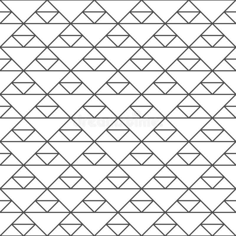 Naadloos patroon van driehoeken Ongebruikelijk rooster Geometrische backgr royalty-vrije stock foto's