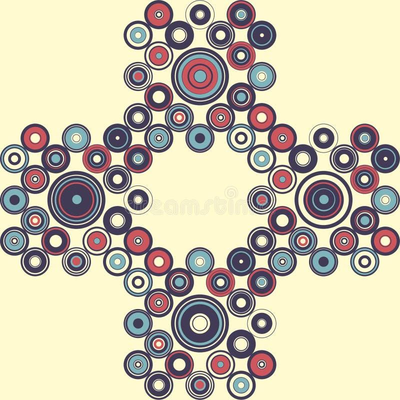 Naadloos patroon van eenvoudige meetkunde De illustratie van de retro-stijl royalty-vrije stock afbeeldingen