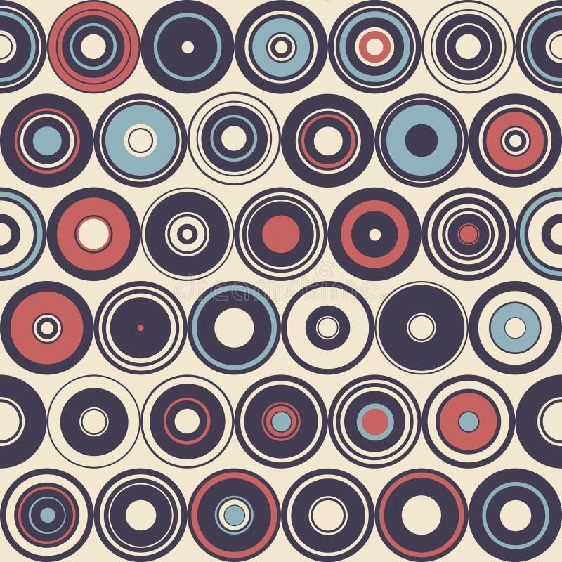 Naadloos patroon van eenvoudige meetkunde De illustratie van de retro-stijl stock foto's