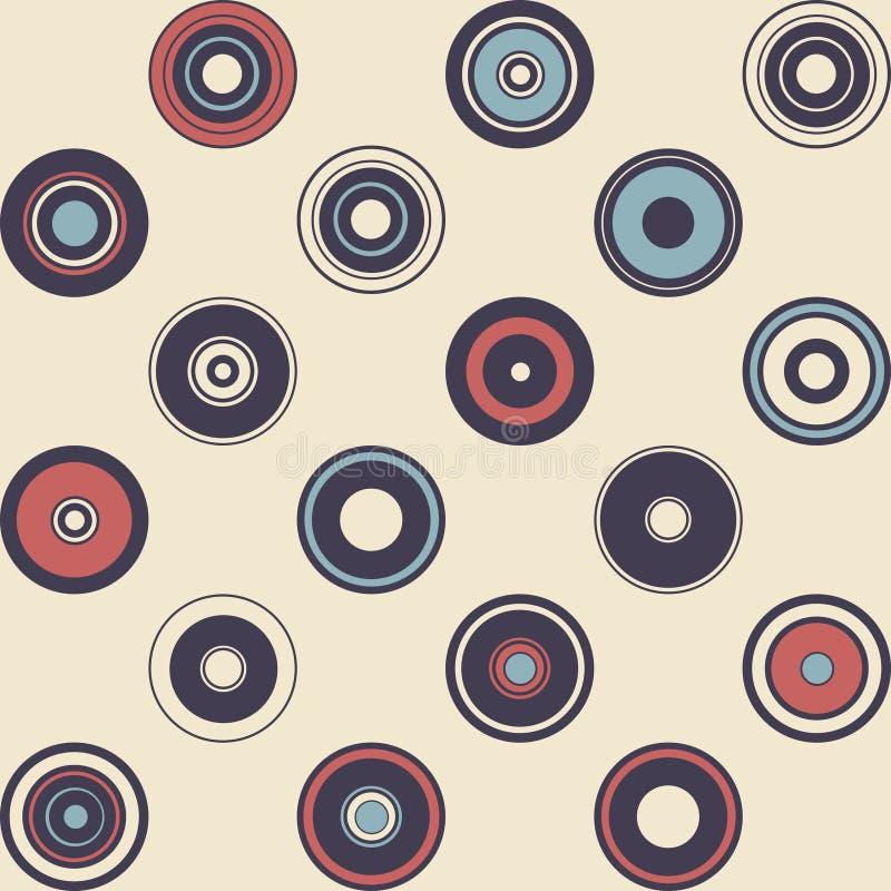 Naadloos patroon van eenvoudige meetkunde De illustratie van de retro-stijl royalty-vrije stock foto