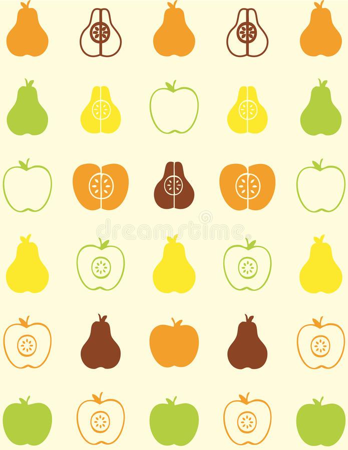 Naadloos patroon van fruit stock illustratie
