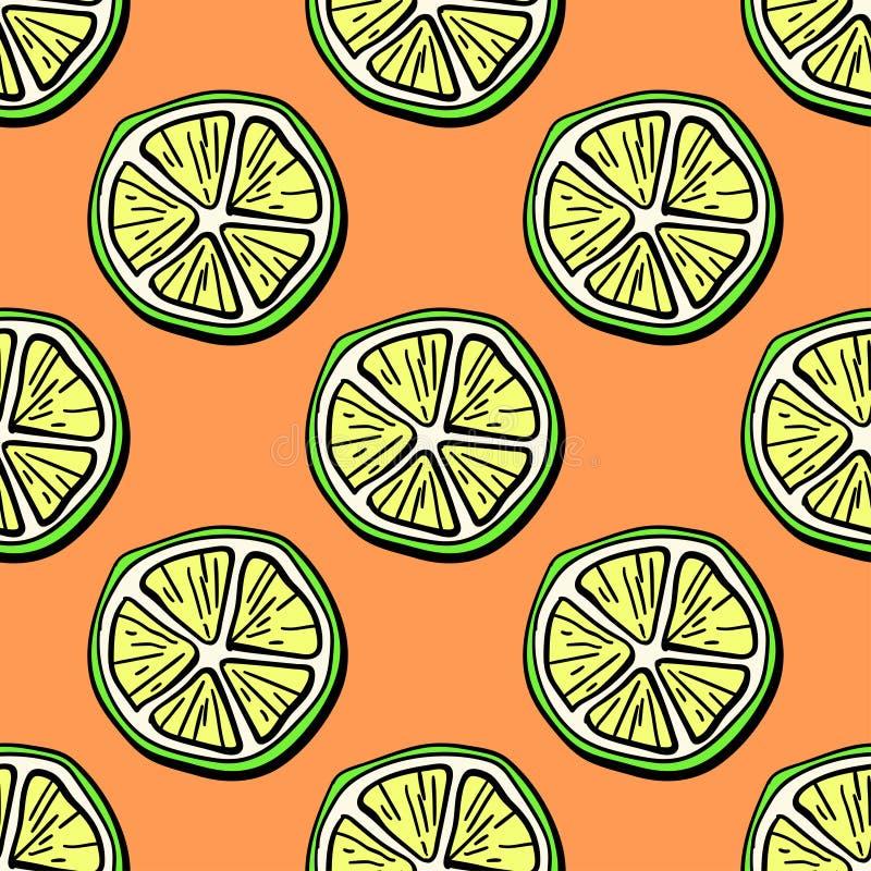Naadloos patroon van fruit stock foto's