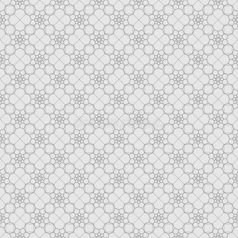 Naadloos patroon van geometrische vormen Veelhoekig mozaïekpatroon vector illustratie