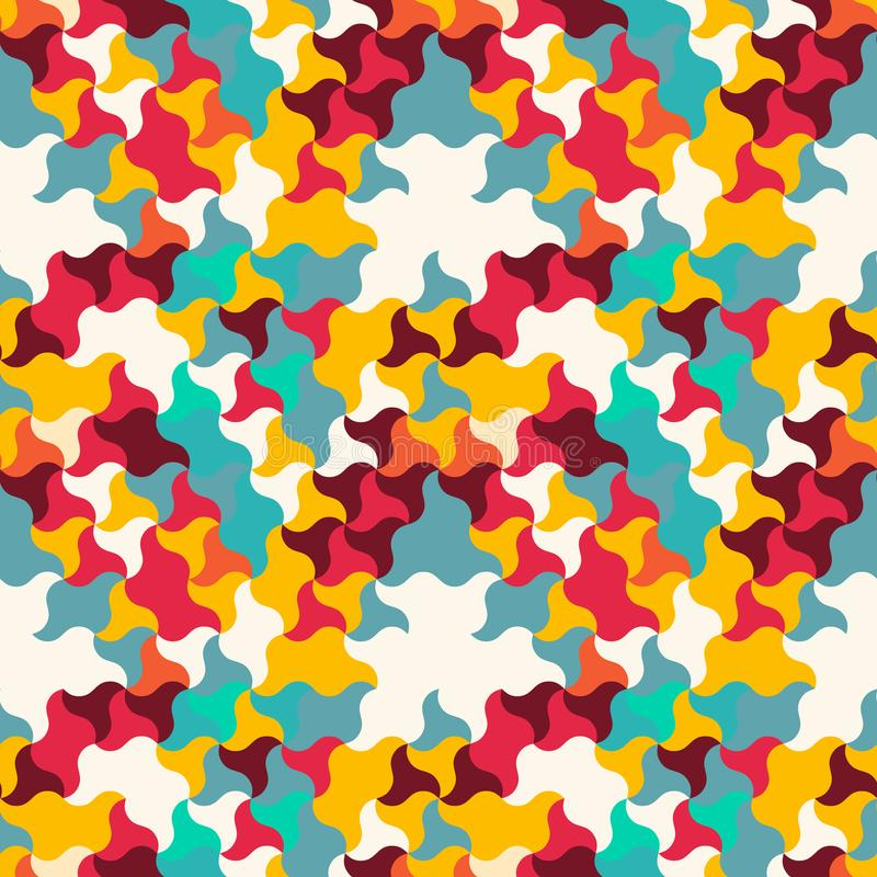 Naadloos patroon van golvende vormen Geometrisch raadsel stock illustratie
