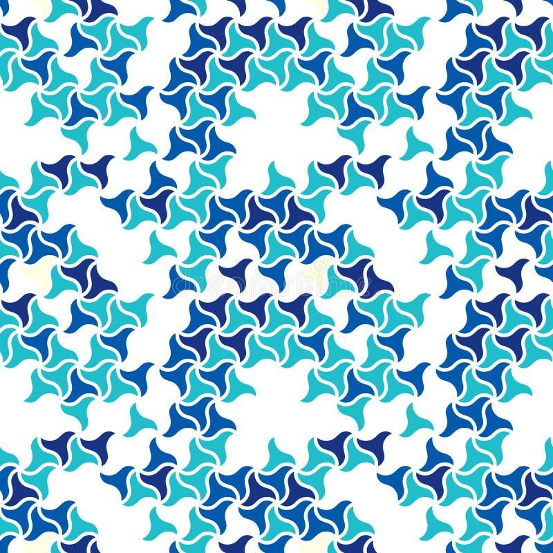 Naadloos patroon van golvende vormen Geometrisch raadsel royalty-vrije illustratie