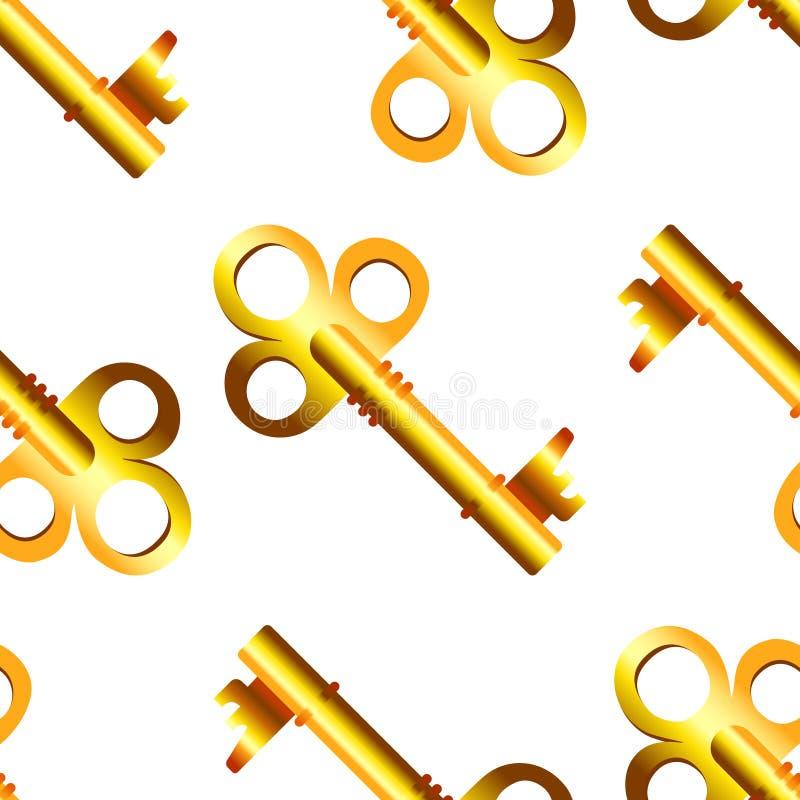 Naadloos patroon van gouden sleutels royalty-vrije illustratie
