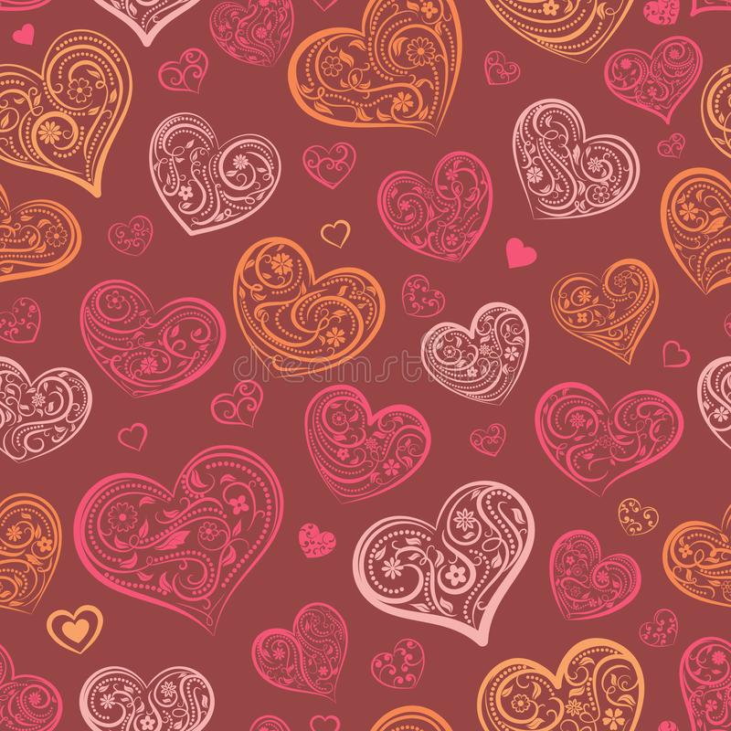 Download Naadloos Patroon Van Harten Vector Illustratie - Illustratie bestaande uit hart, decoratie: 107700272