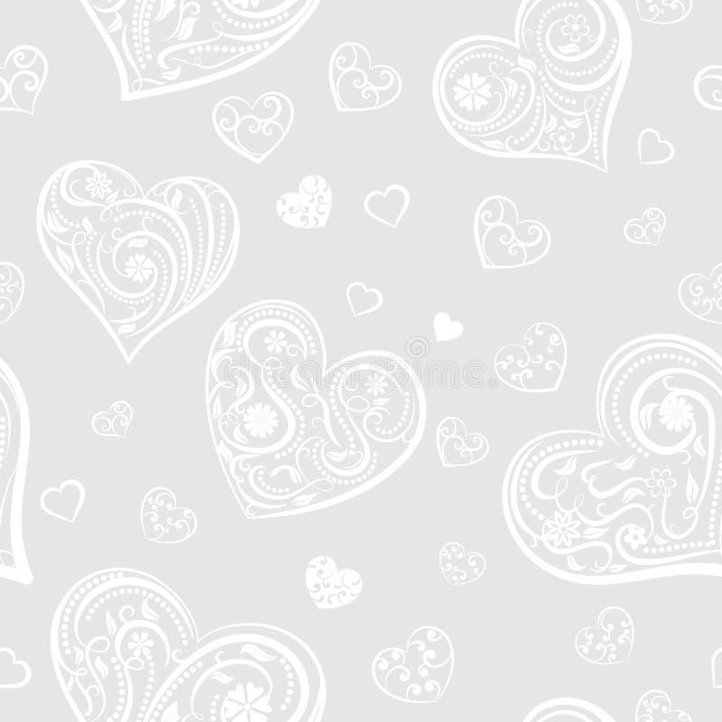 Download Naadloos Patroon Van Harten Vector Illustratie - Illustratie bestaande uit ontwerp, textuur: 107700432