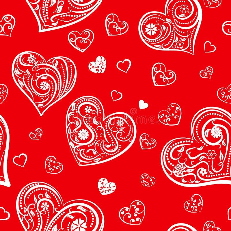 Download Naadloos Patroon Van Harten Vector Illustratie - Illustratie bestaande uit mooi, rood: 107700459