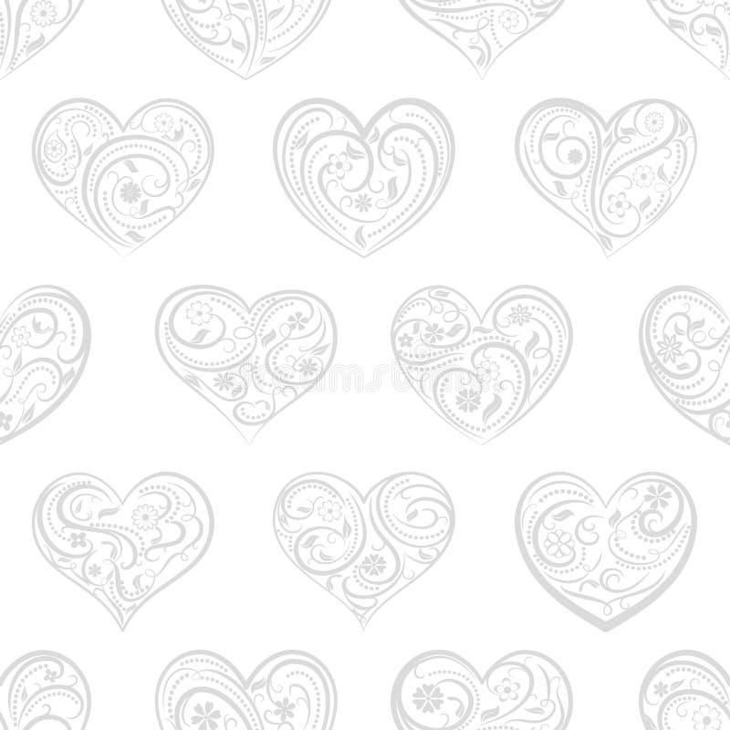 Download Naadloos Patroon Van Harten Vector Illustratie - Illustratie bestaande uit art, hart: 107700489