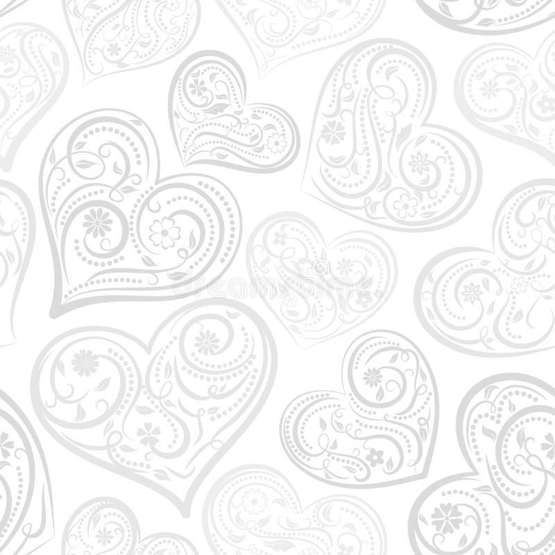 Download Naadloos Patroon Van Harten Vector Illustratie - Illustratie bestaande uit bloem, art: 107700508