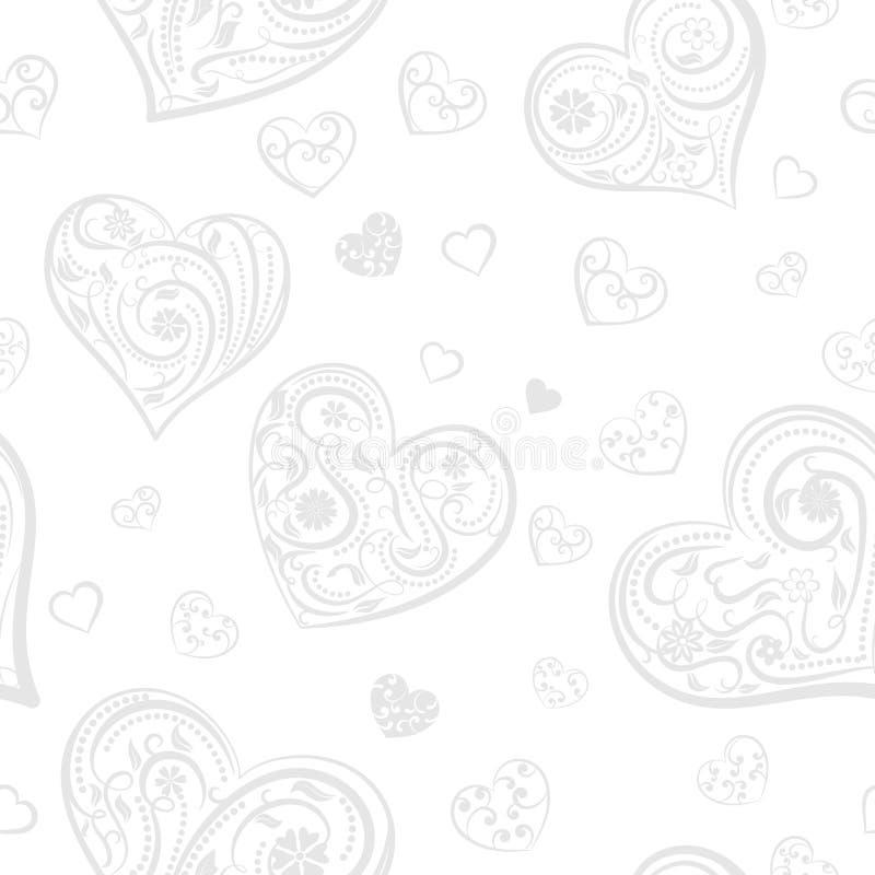 Download Naadloos Patroon Van Harten Vector Illustratie - Illustratie bestaande uit textuur, naadloos: 107700533