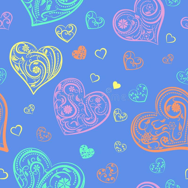 Download Naadloos Patroon Van Harten Vector Illustratie - Illustratie bestaande uit valentines, bloem: 107700599