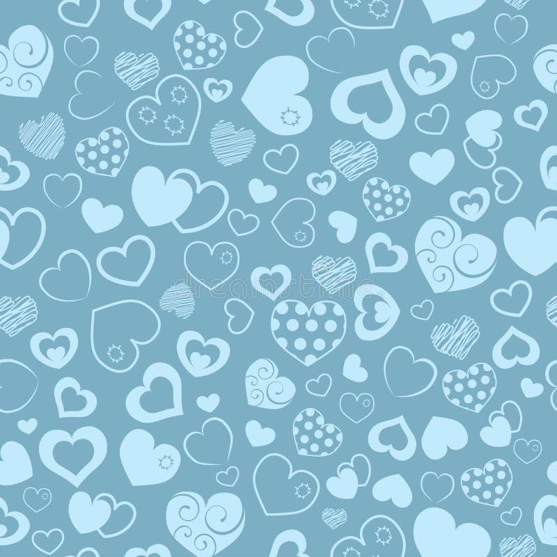 Naadloos patroon van harten stock illustratie