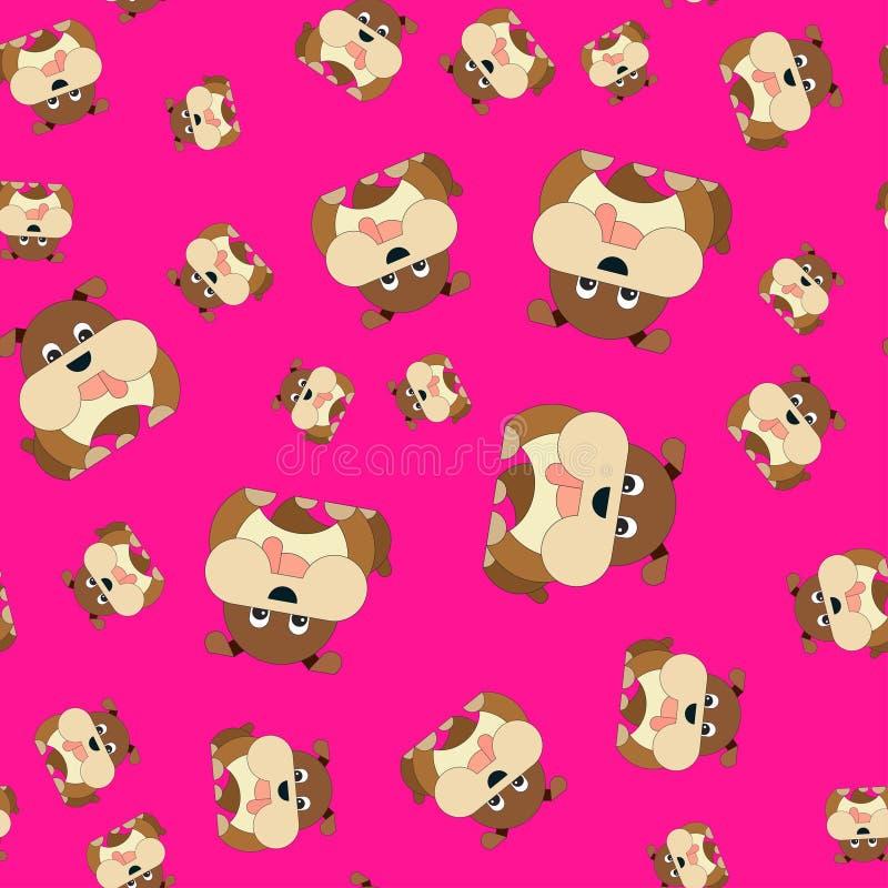 Naadloos patroon van honden stock illustratie