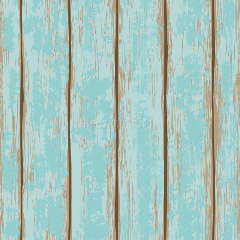Naadloos patroon van houten raad stock illustratie