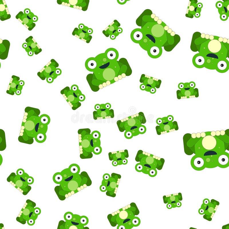 Naadloos patroon van kikkers royalty-vrije illustratie