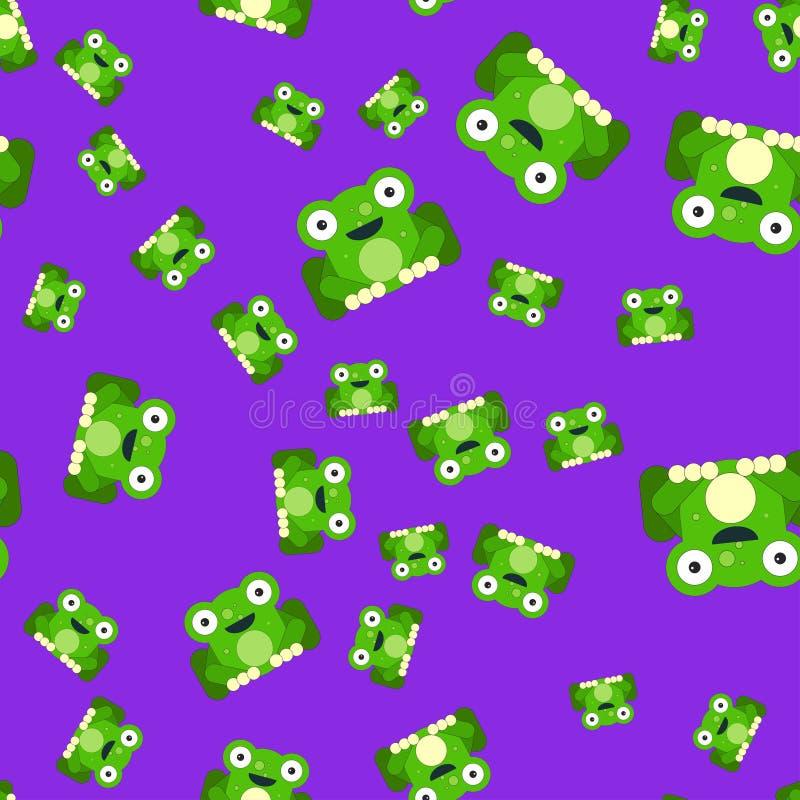Naadloos patroon van kikkers vector illustratie