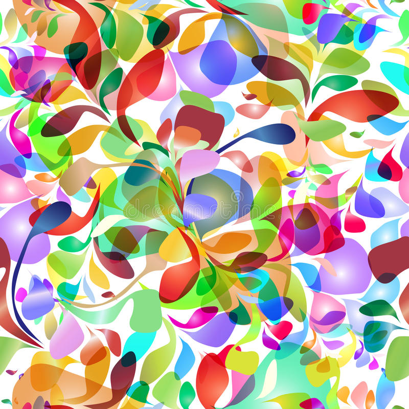 Naadloos patroon van kleurrijke borstelslagen stock illustratie
