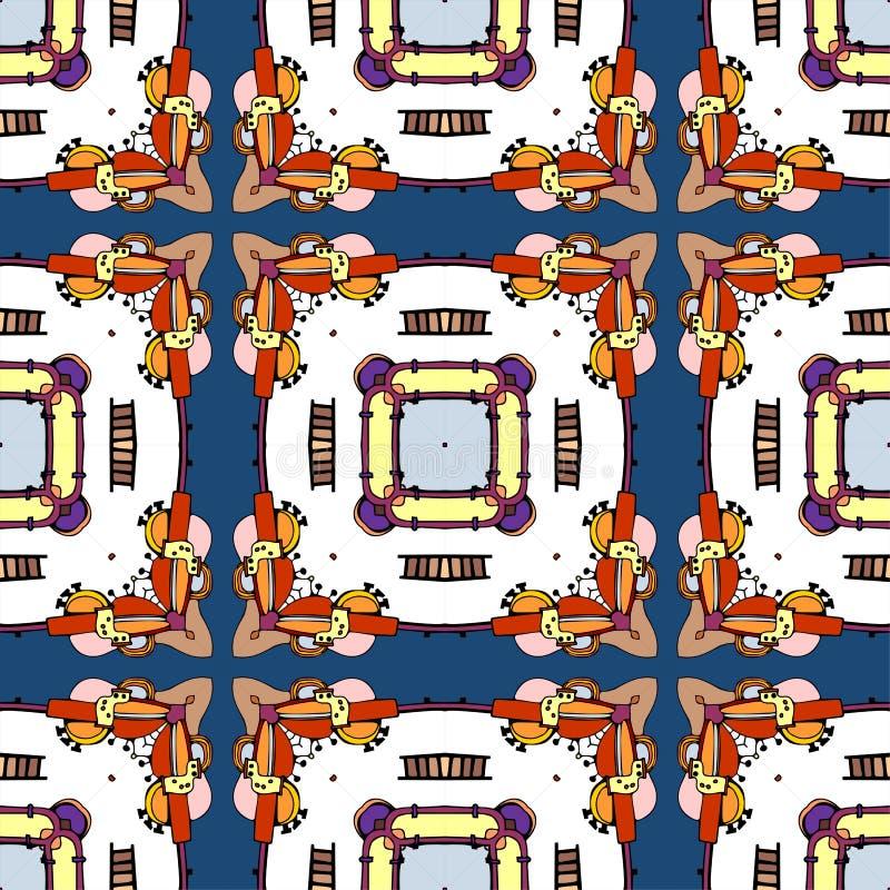 Naadloos patroon van kleurrijke caleidoscoop vector illustratie