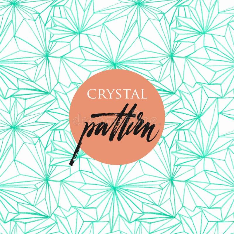 Naadloos patroon van kristallen royalty-vrije illustratie