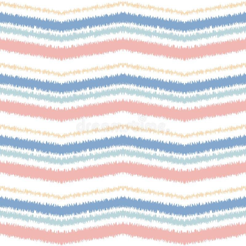 Naadloos patroon van lijnen en scherpe hoeken Zigzag en schommelingen op de oppervlakte van geometrische vormen stock illustratie