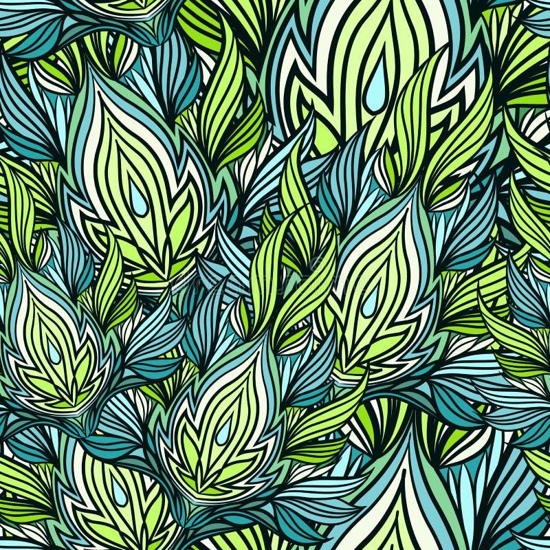 Naadloos patroon van lotos stock afbeeldingen