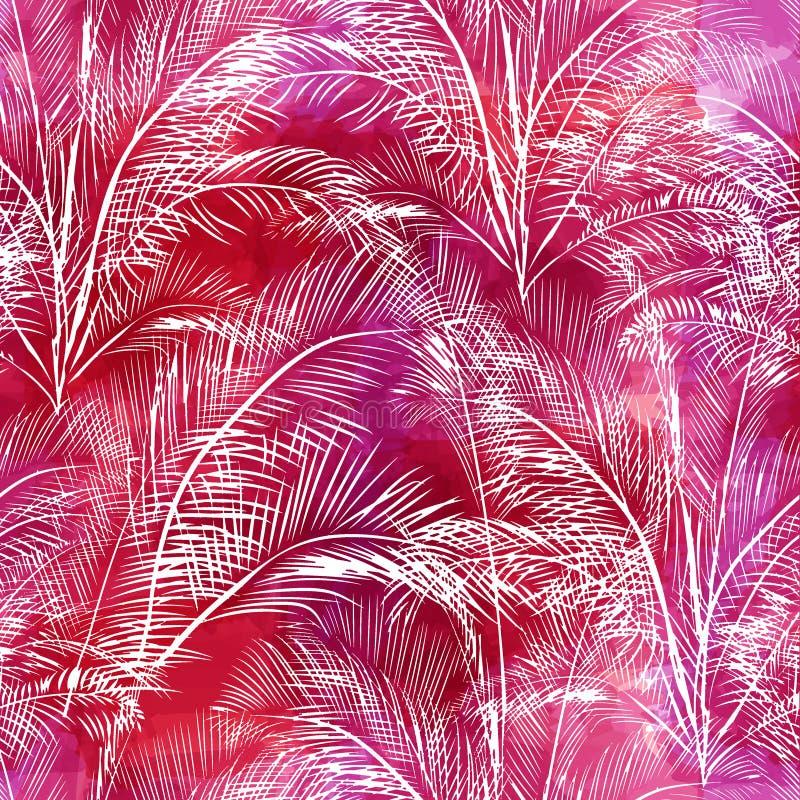 Naadloos patroon van palmenbladeren vector illustratie