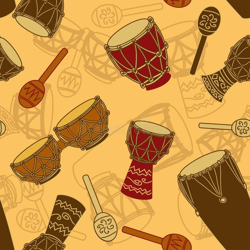 Naadloos patroon van percussie royalty-vrije illustratie