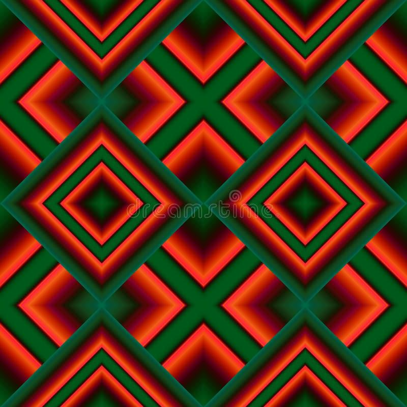 naadloos patroon van rhombuses stock illustratie