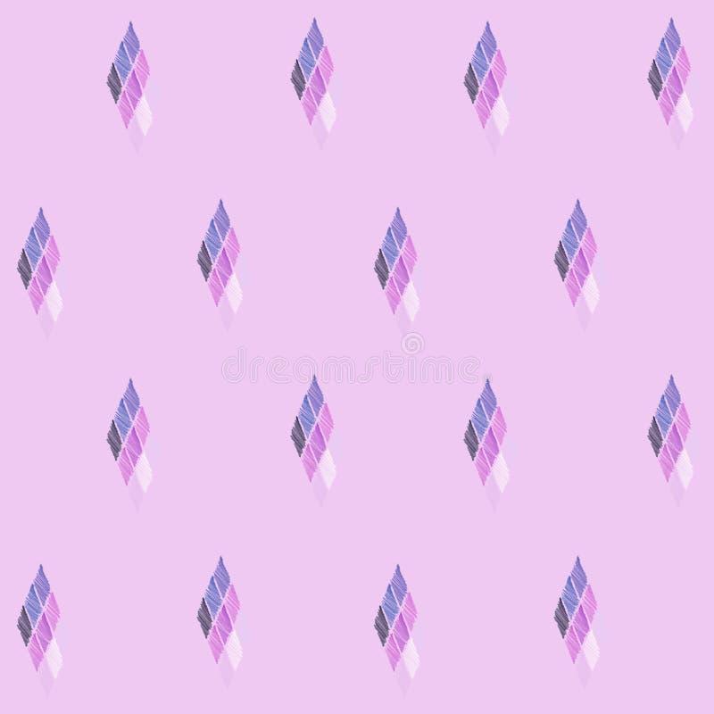 Naadloos patroon van ruiten op een roze achtergrond vector illustratie