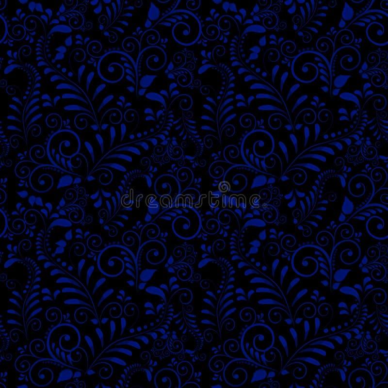 Naadloos patroon van Russisch nationaal ornament op zwarte achtergrond vector illustratie