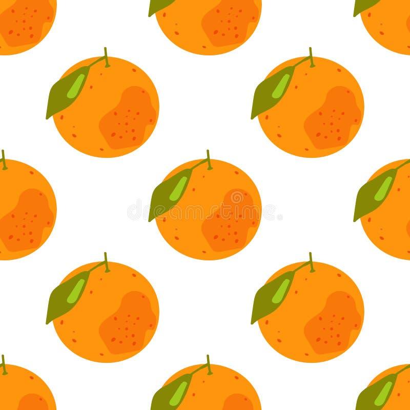 Naadloos patroon van tropische citrusvruchten vector illustratie