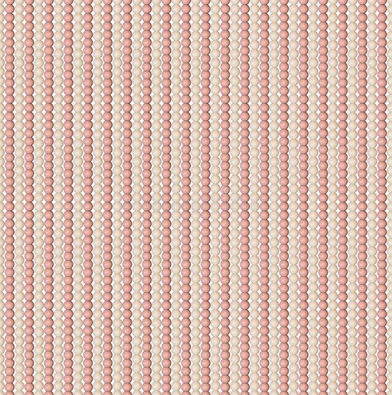 Naadloos patroon van verschillende parels Acrylparels De parels worden verticaal rechtstreeks geschikt Comité van parels Pastelkl stock illustratie