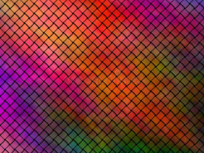 Naadloos patroon van verweven multicolored linten stock illustratie