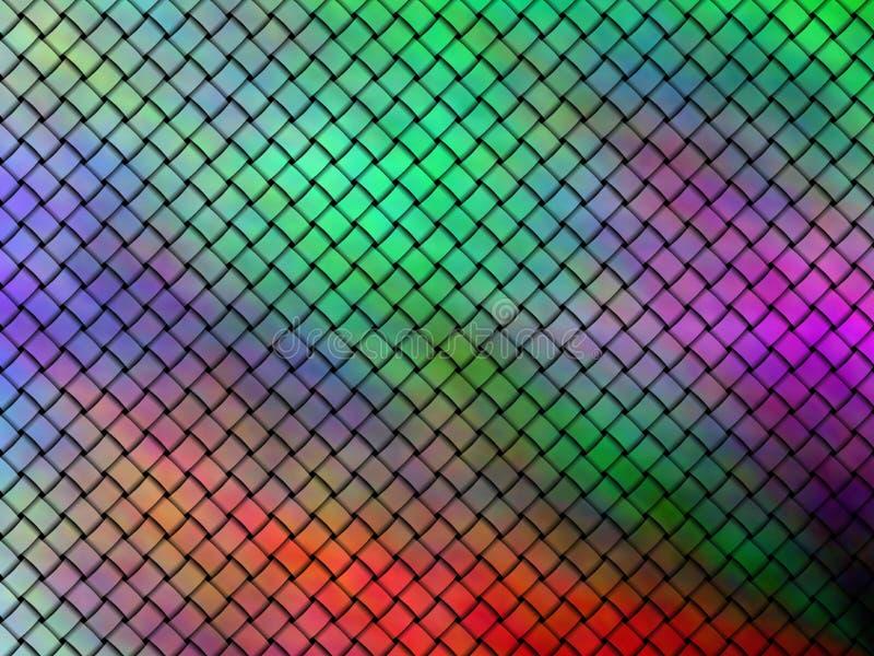 Naadloos patroon van verweven multicolored linten royalty-vrije illustratie